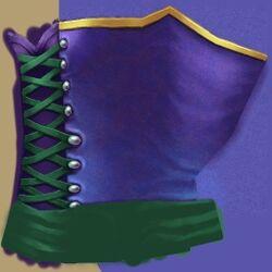 FP corset high peacock copy
