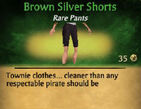 Brown Silver Shorts