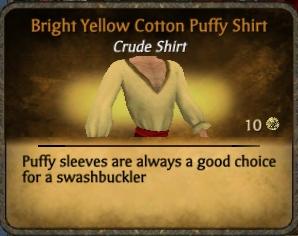 File:Yellow cotton puffy shirt.png