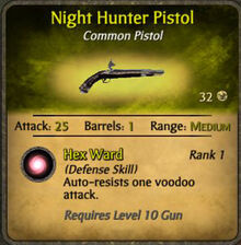 Night hunter pistol
