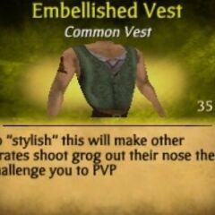 Green Embellished Vest