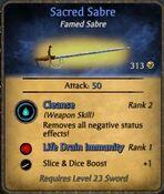Sacred-sabre