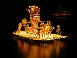 File:250px-Muisca raft Legend of El Dorado Offerings of gold.jpg