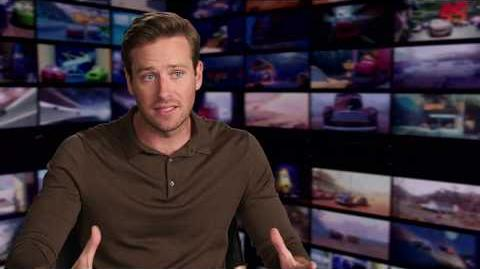 "Cars 3 ""Jackson Storm"" Armie Hammer Interview"