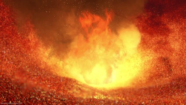 File:Close-up of the flame surrounded by shredded trash.jpg