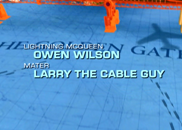 File:The starrin end credits showing McQueen as first character..png