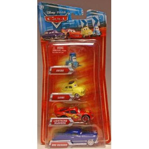 File:Disney Pixar Cars Toys - Disney Pixar CARS Movie Exclusive 155 Die Cast 4Pack Guido - Luigi - Lightning McQueen Doc Hudson.jpg