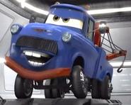 Moustached blue mater