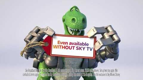 Sky Broadband Unlimited advert with Trixie and Rex from Toy Story
