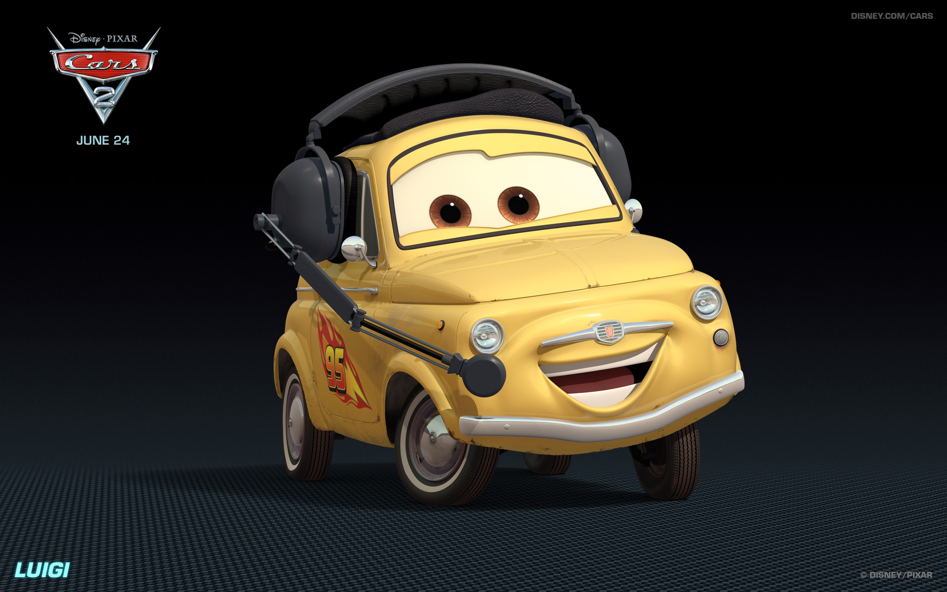 Cars 2 Cartoon Characters Names : Image cars luigi g pixar wiki fandom powered by