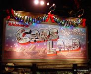 Christmas Cars Land Billboard Night