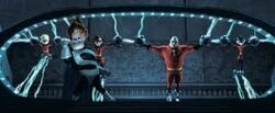 The Incredibles in the containment unit