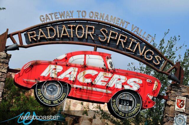 File:Radiator Springs Racers entrance-1-.jpg