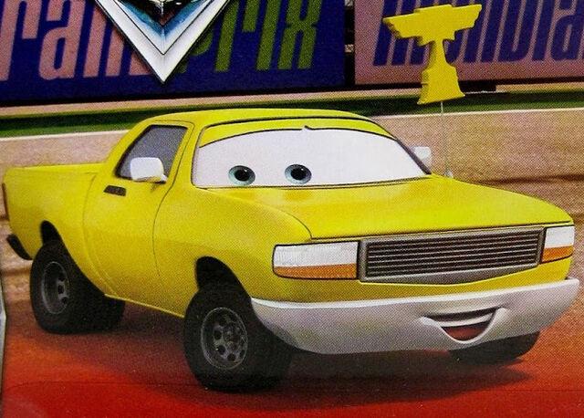 File:A yellow pick-up truck - Piston Cup fan.jpg