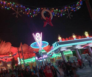 Christmas Cars Land Neon