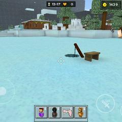 The ice fishing spot.