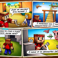 The Story Comic for Sky Islands.