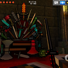 The throne of melee weapons.