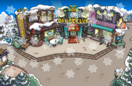 Snowing Town Winter Party
