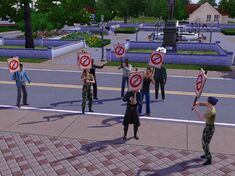 Screenshot protest