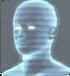 Futurystyczny nagrobek holograficzny duch