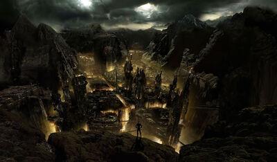 Dark-mountain-city-fantasy-wallpaper-3461