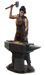 Female blacksmith by thomaswievegg-d6d9jxk