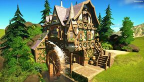Fantasy Medieval Water Mill image1