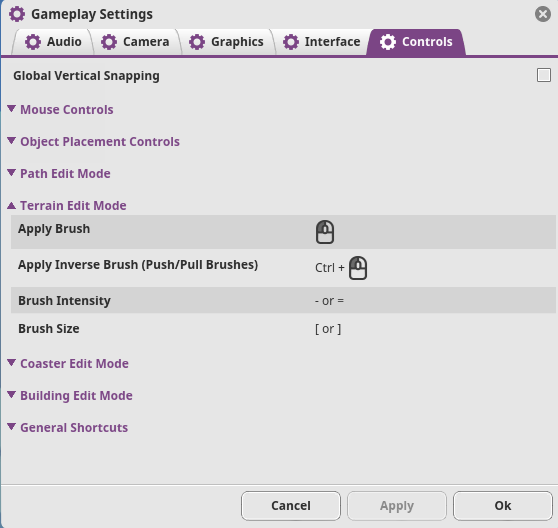 Planet Coaster Gameplay Settings Terrain Edit Mode