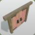 Wooden Door Red Wood Frame icon