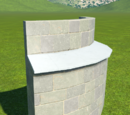 Castle Curved Wall Buttress