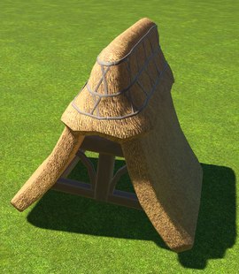 Thatch Roof Capped Ridge - Planet Coaster