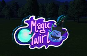 Ride Sign - Magic Twirl at night
