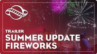 Planet Coaster's Free Summer Update includes FIREWORKS!