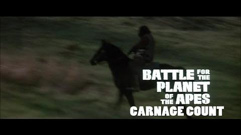 How Many Kills in Battle for the Planet of the Apes (1973)