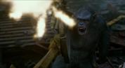 Koba shoots at apes