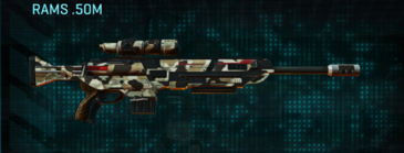 Desert scrub v1 sniper rifle rams .50m