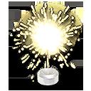 Gold Sparkler Hood Ornament