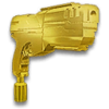 Gold Pistol Hood Ornament NC