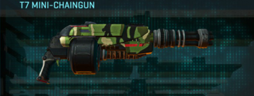 Jungle forest heavy gun t7 mini-chaingun