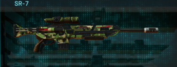 Jungle forest sniper rifle sr-7