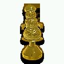 Gold Snowman Hood Ornament