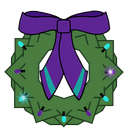 Wreath Decal VS