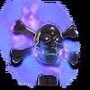 VS Flaming Skull Hood Ornament