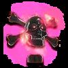 TR Flaming Skull Hood Ornament