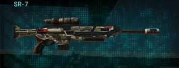 Woodland sniper rifle sr-7
