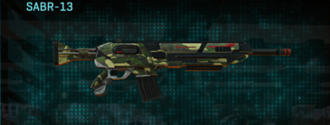 Temperate forest assault rifle sabr-13