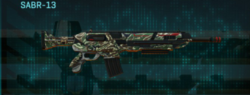 Scrub forest assault rifle sabr-13