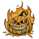 Halloween Pumpkin Decal