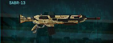 Sandy scrub assault rifle sabr-13